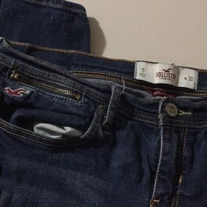 Hollister Jeans - Cute zipper hollister jeans 11 w 30